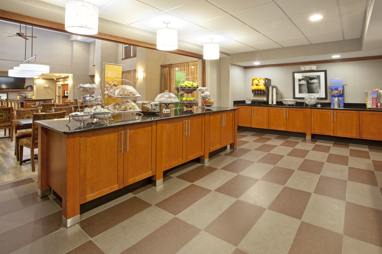 Hampton Inn Fort Worth, TX: Breakfast Bar